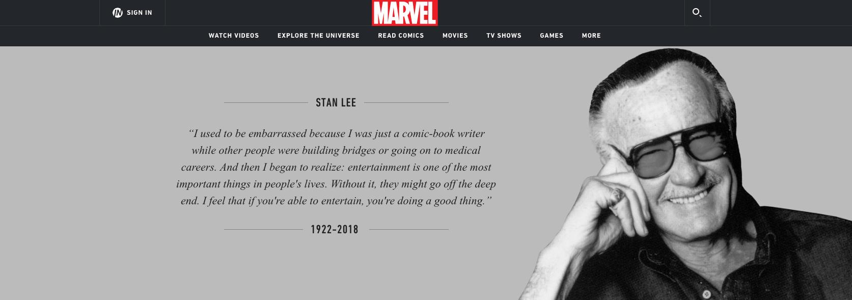 """""""Fue tan extraordinario como los personajes que creó"""": Marvel y Disney se despiden de Stan Lee"""