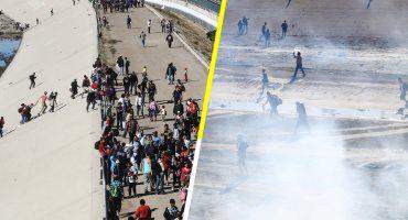 Relaciones Exteriores pide a EU investigar el uso de armas no letales contra migrantes
