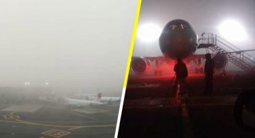 Las operaciones en el AICM se encuentran suspendidas por banco de niebla