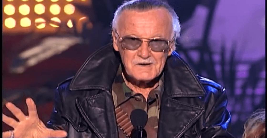 Stan Lee disfrazado de Revolver Ocelot