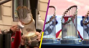 Reparan el trofeo de los Red Sox Boston tras ser desarmado por una lata de cerveza
