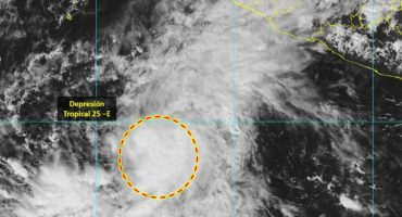 ¡Aguas! Se formó la tormenta tropical 25-E frente a Jalisco