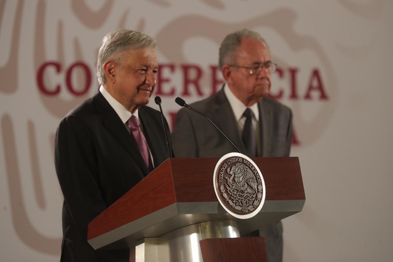 AMLO y Jiménez Espriú