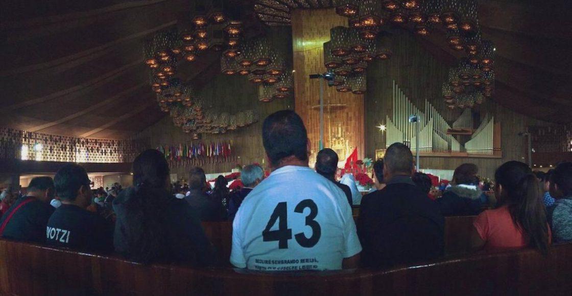 'No perdemos la esperanza', padres de los 43 peregrinan a la Basílica de Guadalupe
