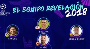¡Orgullo mexicano! 'Chucky' Lozano en el 11 revelación de la Champions League