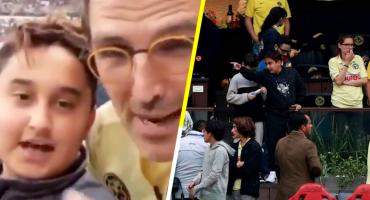 ¿En el palco de Azcárraga? Sí, pero #ConLosNiñosNo, dice Müller en defensa de su hijo