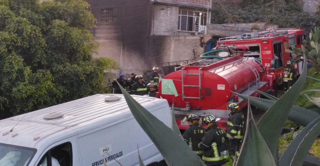 Menores de edad fallecen en un incendio en Iztapalapa