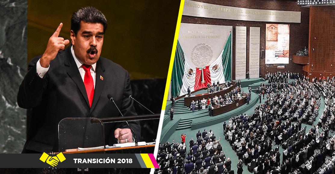 '¡Dictador, dictador!'; le gritan a Nicolás Maduro en la toma de protesta de AMLO