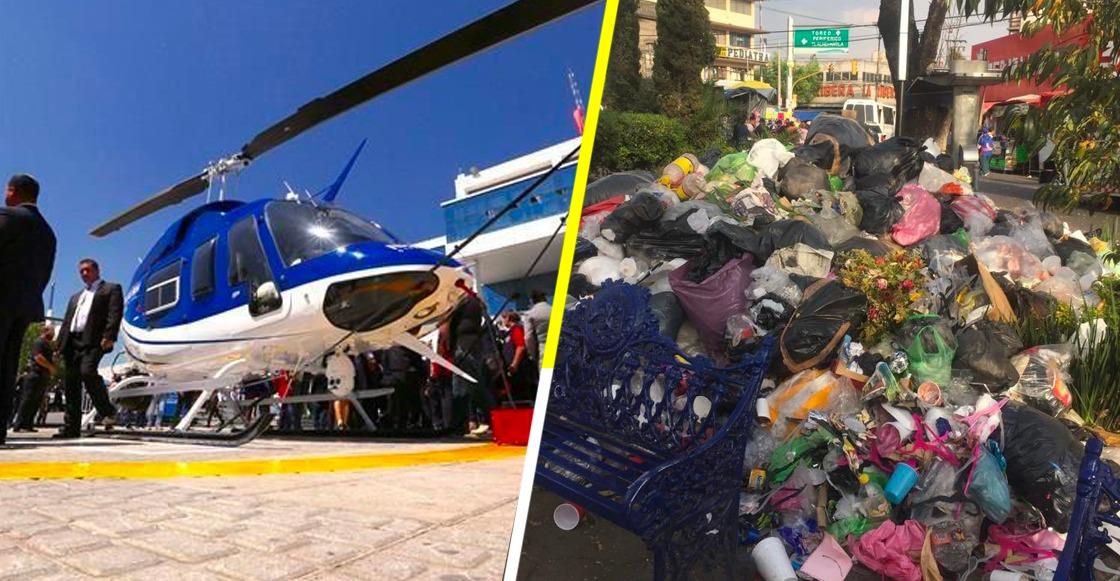 Naucalpan termina el 2018 endeudado y 'nadando' entre basura, denuncian ciudadanos