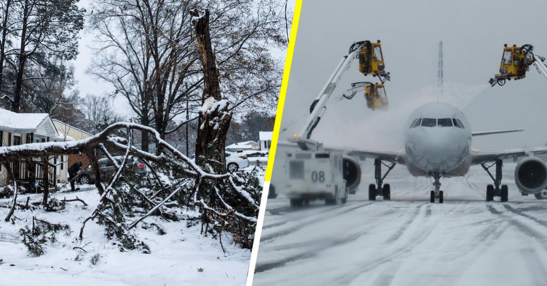 En imágenes: así impactó una tormenta invernal en Carolina del Norte, Estados Unidos