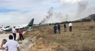 Se reporta caída de una aeronave en Atizapán, en el Estado de México