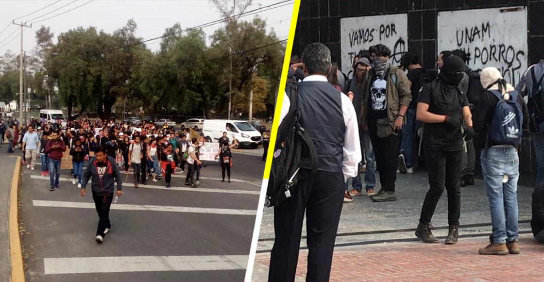 Alumnos de la Prepa 2 de la UNAM protestaron en Rectoría ¿qué exigen?