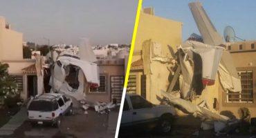 Una avioneta cayó sobre una casa en Culiacán; al menos 4 muertos