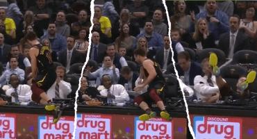 ¡Echen pajaaaaaaa! Jugador los Cavaliers tiró a un comentarista en una transmisión en vivo