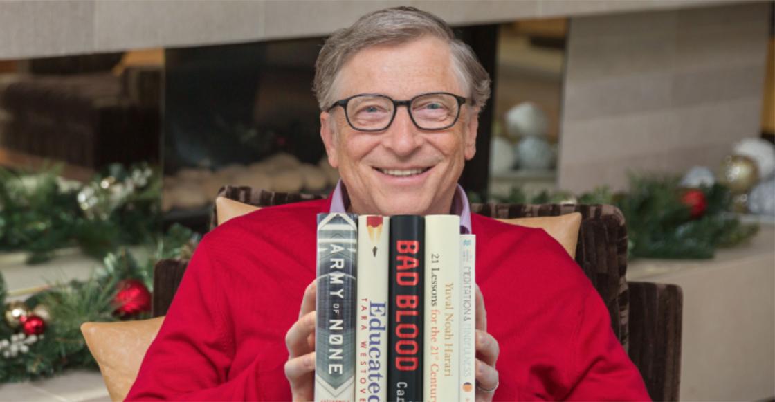 Estos son los 5 libros que marcaron el 2018 de Bill Gates
