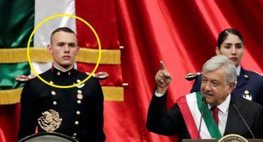 ¡El incondicional! Él es el cadete que rompió corazones en la toma de protesta de AMLO
