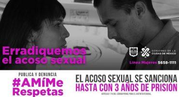 #AMíMeRespetas, la campaña de Claudia Sheinbaum contra el acoso sexual