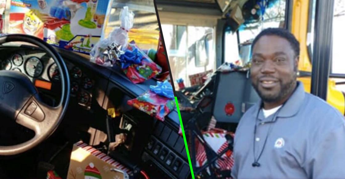 ¡Aww! Este chofer de autobús escolar ahorró para comprar regalos a niños en esta Navidad