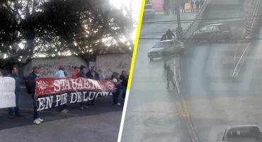 Trabajadores de la UAEM bloquean entradas a Cuernavaca; exigen el pago de sus salarios