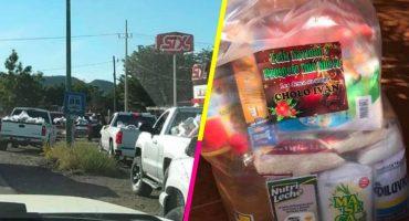 En Sinaloa repartieron despensas en nombre de exoperador del Chapo