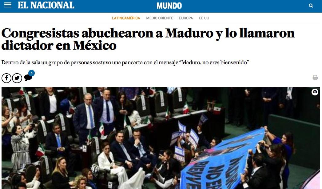 Nicolás Maduro no asistirá a San Lázaro