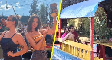 Paren todo: ¡Emily Ratajkowski está en México y así se  paseó por Xochimilco!