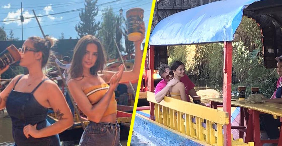 Paren todo: ¡Emily Ratajkowski estuvo paseándose en Xochimilco!