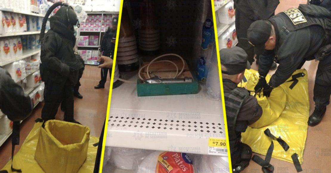 Encuentran un presunto artefacto explosivo en Walmart de Ecatepec