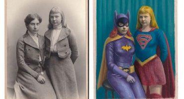El arte de convertir retratos viejos en personajes de la cultura popular