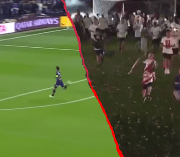¡Tsssss, eso arde, Boca! River recrea el tercer gol de la Final de la Copa Libertadores en sus festejos