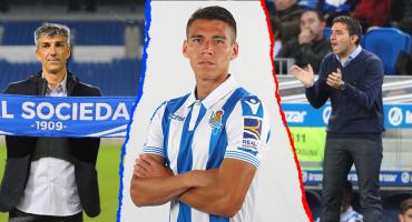 A Héctor Moreno y la Real Sociedad les cambiaron el técnico en sólo dos minutos