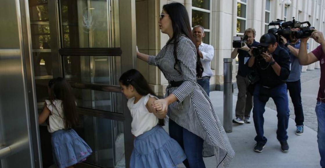 ¿Estrategia legal? Las hijas del Chapo acudieron a la corte en Nueva York