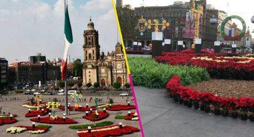 En imágenes: Así luce el Zócalo sin la pista de hielo pero con unas preciosísimas Nochebuenas
