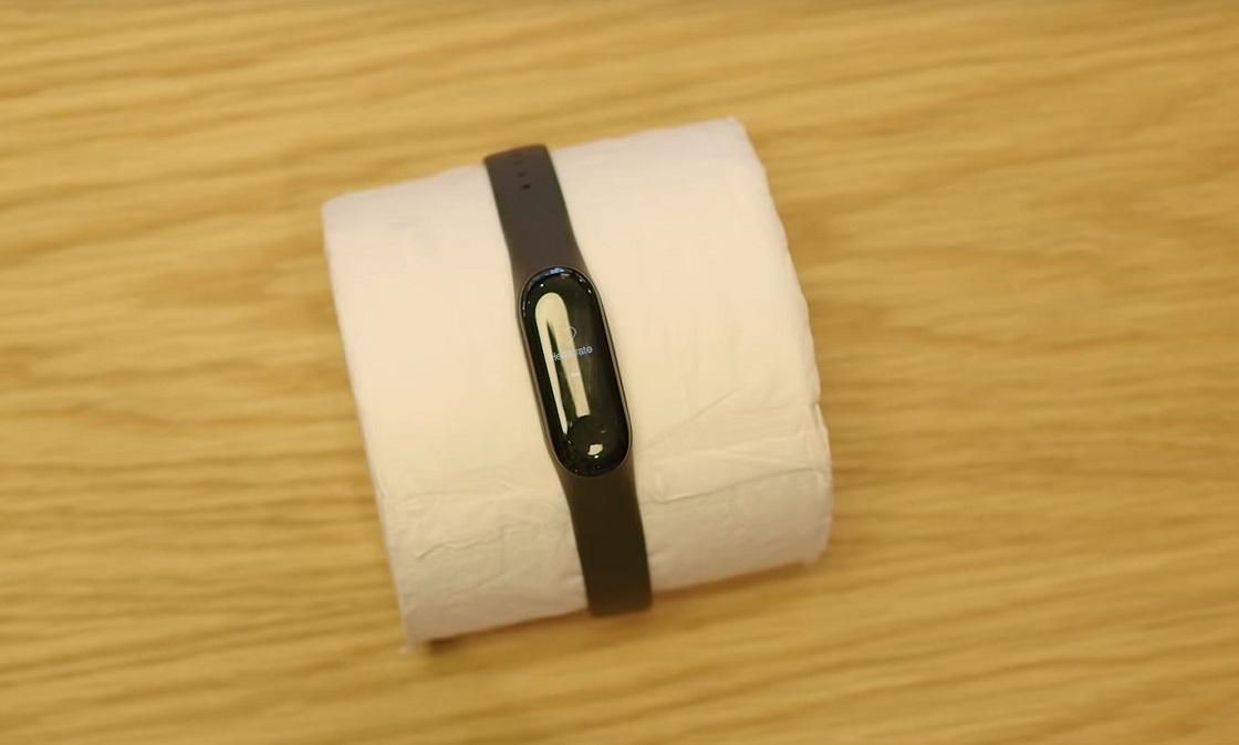 Ritmo cardiaco en papel de baño