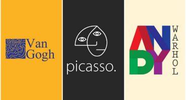 ¿Cómo se verían los logos de varios pintores famosos?