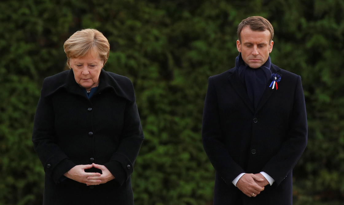 merkel-macron-presidentes-foto-2018-100-anos-guerra-mundial
