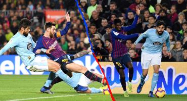 ¿Cómo le fue a Néstor Araujo frente a Messi, Luis Suárez y Dembélé?