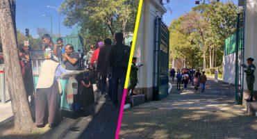 En imágenes: Ya llegaron los primeros visitantes a Los Pinos... y el ambulantaje también 