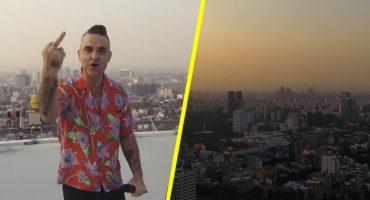 Robbie Williams estrena video musical grabado en la CDMX 