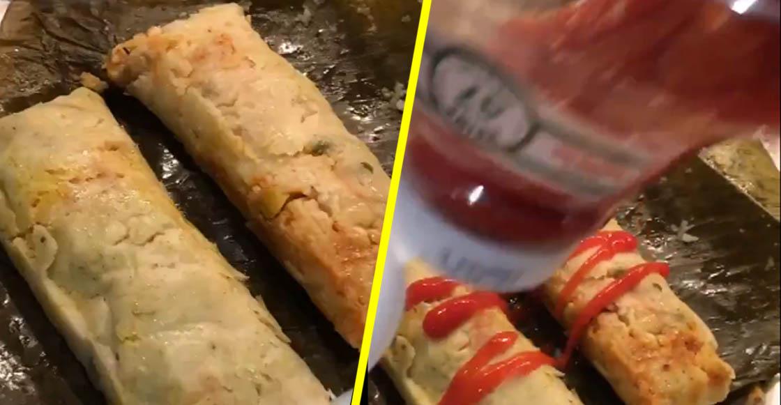 Internet descubrió que hay gente que come tamales con catsup y está enloqueciendo