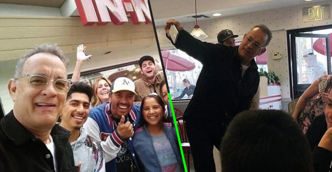 ¡Aww! Tom Hanks entró a comprar una hamburguesa y terminó pagando la cuenta de todos