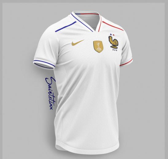 ¡Qué elegancia la de Francia! Checa la camiseta del Campeón del Mundo creada por un artista