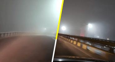 AICM restablece aterrizajes tras la suspensión de operaciones por banco de niebla