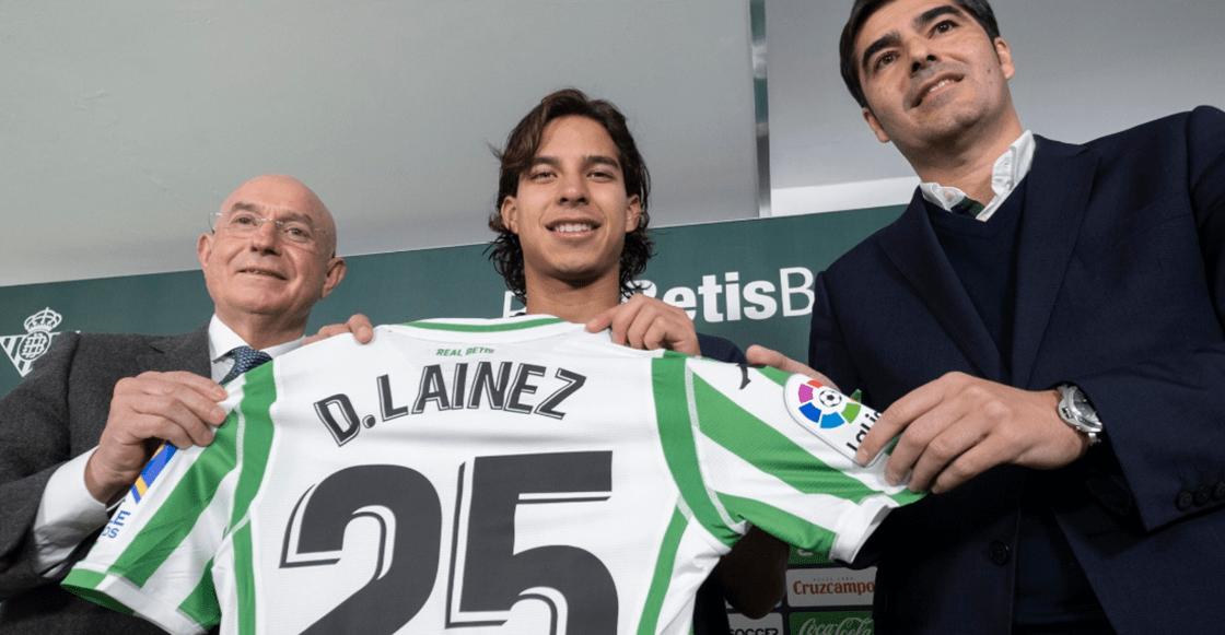 Un momento... Betis le cambió el número a Diego Lainez