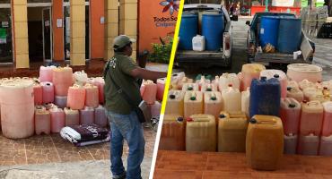 Policía comunitaria de Guerrero detiene a sujetos con casi 15 mil litros de huachicol