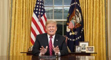 """Trump asegura que sigue construcción de muro fronterizo, """"incluso sin dinero disponible"""""""