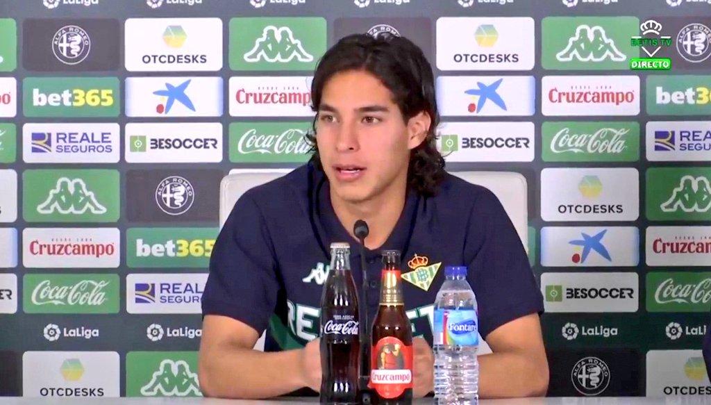 Revive las mejores frases de Diego Lainez en su presentación con el Real Betis