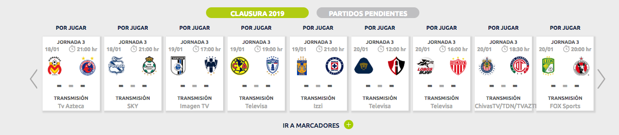 ¿Cómo, cuándo y dónde ver en vivo la Jornada 3 del Clausura 2019?
