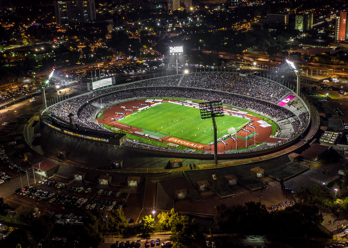 Estadio Universitario de la UNAM visto a ojo de águila Foto: Tarcisio Sañudo / Postandfly