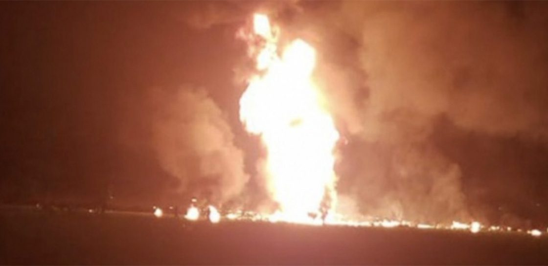 Explosion en Tlahuelilpan por un ducto de Pemex